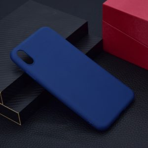 For iPhone XS Max Candy Color TPU Case(Blue)
