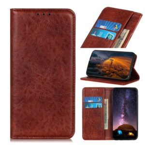 Magnetic Retro Crazy Horse Texture Horizontal Flip Leather Case for LG K50, with Holder & Card Slots & Wallet (Brown)