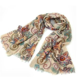Bohemian Retro Style Printed Long Warm Scarf, Size:190cm(As Picture Show)