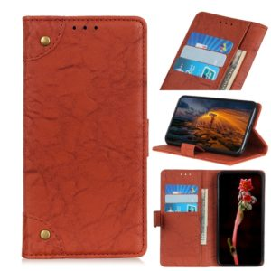 Copper Buckle Retro Crazy Horse Texture Horizontal Flip Leather Case for Huawei Y5 (2019), with Holder & Card Slots & Wallet (Brown)