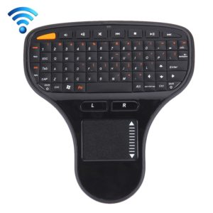 N5903 2.4GHz Mini Wireless Keyboard with Touchpad & USB Mini Receiver, Size: 127 x 134 x 25mm(Black)