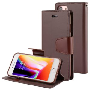 GOOSPERY SONATA DIARY For iPhone SE 2020 & 8 & 7 Business Style Magnetic Clasp Horizontal Flip Leather Case with Holder & Card Slots & Wallet(Brown) (GOOSPERY)