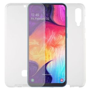 For Galaxy A50 TPU + Acrylic Ultra-Thin Double-Sided All-Inclusive Transparent Mobile Phone Case