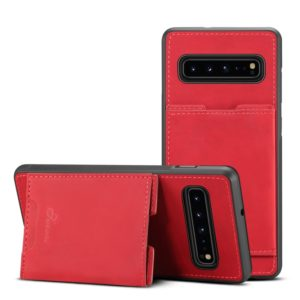PU + TPU Protective Case with Card Slots for Galaxy S10 5G(Red)