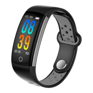 Q6 0.96 inches LCD Color Screen Smart Bracelet IP68 Waterproof,Support Call Reminder /Heart Rate Monitoring /Blood Pressure Monitoring /Blood Oxygen Monitor /Sleep Monitoring /Sedentary Reminder(Silver Grey)