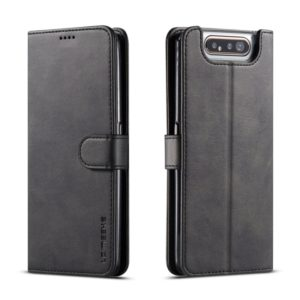 For Galaxy A80 / A90 LC.IMEEKE Calf Texture Horizontal Flip Leather Case, with Holder & Card Slots & Wallet(Black) (LC.IMEEKE)