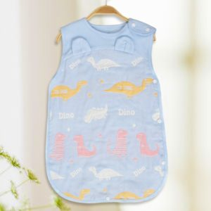 Spring Summer Cotton Soft And Airpermeability Sleeping Bag, Size:100/62(Blue Dinosaur)