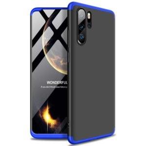 Huawei P30 Pro GKK 360 Protection Case Front and Back Case Full Body Cover black-blue