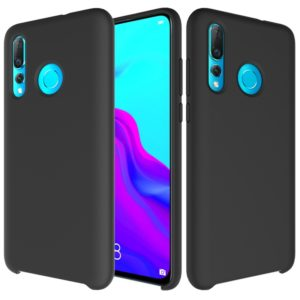 Solid Color Liquid Silicone Dropproof Protective Case for Huawei Nova 4(Black)