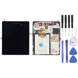 LCD Screen and Digitizer Full Assembly with Frame for BlackBerry P9983(Black)