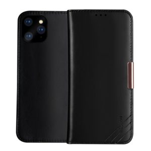 DZGOGO ROYALE Series Magnetic Horizontal Flip Genuine Leather Case with Card Slots & Holder For iPhone 11 Pro(Black) (DZGOGO)