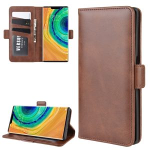 For Huawei Mate 30 Pro Wallet Stand Leather Cell Phone Case with Wallet & Holder & Card Slots(Brown)