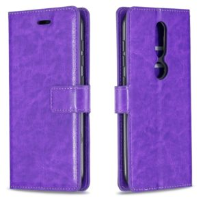 For Nokia 4.2 Crazy Horse Texture Horizontal Flip Leather Case with Holder & Card Slots & Wallet & Photo Frame(Purple)