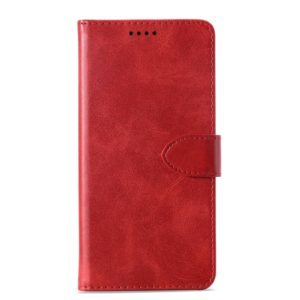 Calf Texture Horizontal Flip Leather Case for Samsung Galaxy A8+ (2018), with Holder & Card Slots & Wallet(Red)