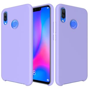Solid Color Liquid Silicone Dropproof Protective Case for Huawei Nova 3 (Purple)