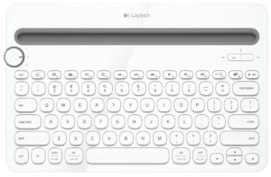 Logitech K480 Bluetooth Multi-Device Keyboard, White (920-006367)