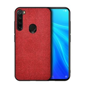 For Xiaomi Redmi Note 8 Shockproof Cloth Texture PC + TPU Protective Case (Red)