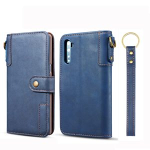 For Galaxy Note10 Cowhide Texture Horizontal Flip Leather Case with Holder & Card Slots & Wallet & Lanyard(Blue)