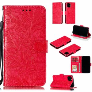 Lace Flower Horizontal Flip Leather Case with Holder & Card Slots & Wallet for iPhone 11 Pro(Red)