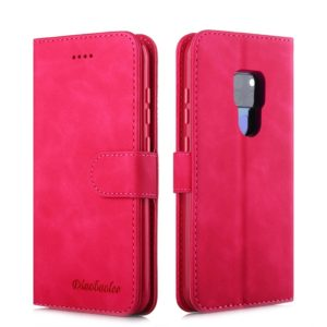 For Huawei Mate 20 Diaobaolee Pure Fresh Texture Horizontal Flip Leather Case, with Holder & Card Slot & Wallet & Photo Frame(Red) (Diaobaolee)