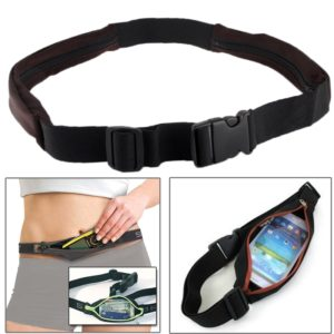 Outdoor Sports Elastic Waist Bag / Two Pockets Fanny Pack Zip Pouch for iPhone 5 & 5s & SE & 5C