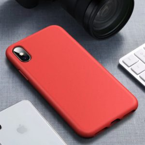 Starry Series Shockproof Straw Material + TPU Protective Case for iPhone XS / X(Red)