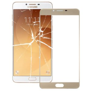 Front Screen Outer Glass Lens for Galaxy C9 Pro / C900(Gold)
