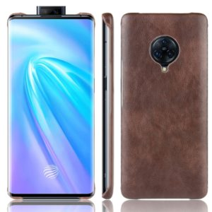 For Vivo NEX 3 Shockproof Litchi Texture PC + PU Case(Brown)
