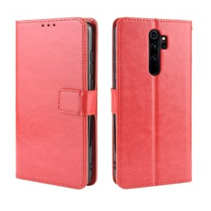For Xiaomi Redmi Note 8 Pro Retro Crazy Horse Texture Horizontal Flip Leather Case with Holder & Card Slots & Photo Frame(Red)