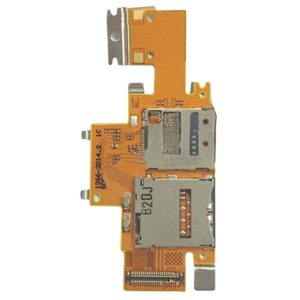 SIM Card and SD Card Reader Contact Flex Cable for Sony Xperia Tablet Z / SGP311 / SGP312 / SGP321