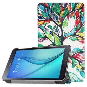 For Galaxy Tab A 8.0 Painted Tree Pattern Horizontal Deformation Flip Leather Case with Three-folding Holder