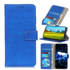 Crocodile Texture Horizontal Flip Leather Case with Holder & Card Slots & Photo Frame & Wallet for OPPO Reno Z(Blue)