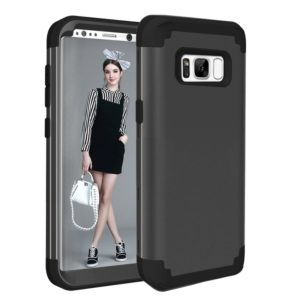 For Galaxy S8 Dropproof 3 in 1 No gap in the middle Silicone sleeve for mobile phone(Black)