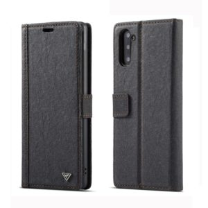 For Galaxy Note 10 WHATIF Kraft Paper TPU + PC Horizontal Flip Protective Case with Holder & Card Slots & Wallet(Black) (WHATIF)