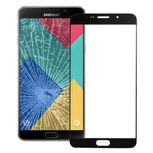 Front Screen Outer Glass Lens for Galaxy A9 (2016) / A900(Black)