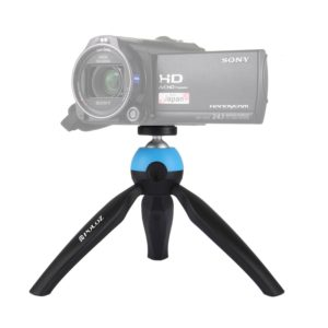 PULUZ Pocket Mini Tripod Mount with 360 Degree Ball Head for Smartphones, GoPro, DSLR Cameras(Blue) (PULUZ)