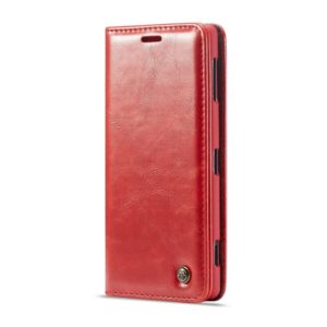 CaseMe-003 Series Horizontal Flip PC + PU Leather Case for Sony Xperia XZ3, with Magnetic Buckle & Holder & Card Slot & Wallet (Red) (CaseMe)