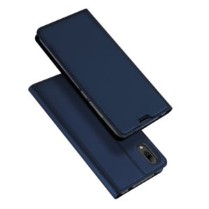 DUX DUCIS Skin Pro Series Horizontal Flip PU + TPU Leather Case for Huawei Y7 Pro (2019) / Enjoy 9, with Holder & Card Slots (Blue) (DUX DUCIS)