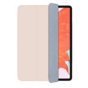 Mutural Famous Authority Series Magnetic Leather Case for iPad Pro 12.9 inch (2018), with Folding Holder & Sleep / Wake-up Function(Pink) (Mutural)