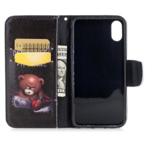 Colored Drawing Pattern Horizontal Flip Leather Case for Samsung Galaxy S10e,with Holder & Card Slots & Wallet(Bear)