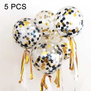5 PCS 12 inch Colorful Confetti Balloons Wedding Decoration Scene Ornament Balloons
