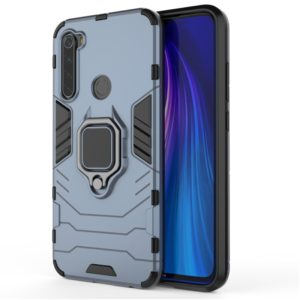 For Redmi Note8 Pro PC + TPU Shockproof Protective Case with Magnetic Ring Holder(Navy blue)