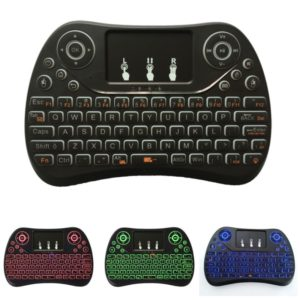 I8 Max 2.4GHz Mini Wireless Keyboard with Touchpad Rechargeable Fly Air Mouse Smart Game 3-color Backlit
