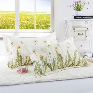 Knitted Polyester Sanded Pillowcase, Size:48×74cm(One)( Permanent Love)