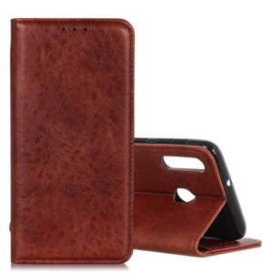 Magnetic Retro Crazy Horse Texture Horizontal Flip Leather Case for Galaxy M20, with Holder & Card Slots & Photo Frame(Brown)