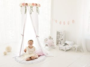 CozyDots Παιδική Κουνουπιέρα Canopy Tent White Roses