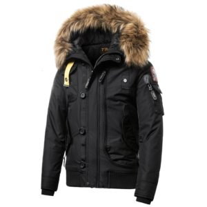 Teen Trend Cotton Padded Warm Coat, Size: XL(Black)