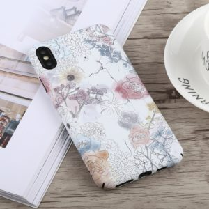Luminous Watercolor Flower Pattern PC Protective Case for iPhone XS Max
