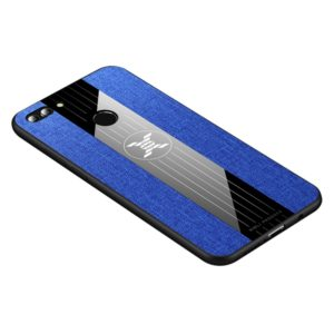 For Huawei Enjoy 8 Plus XINLI Stitching Cloth Textue Shockproof TPU Protective Case(Blue) (XINLI)