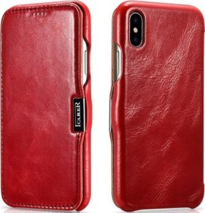iCarer Vintage Series Side-Open Δερμάτινη Θήκη iPhone XS Max - Red (RI904-RD)